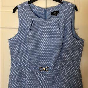 Cutest Tahari blue and white dress
